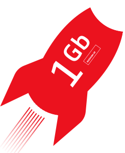 1GB Rocket Icon