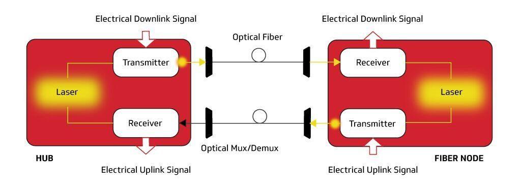 Full Duplex Coherent Optics Dual Fiber Approach
